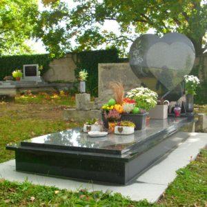 Jednohrob - kamenná deska