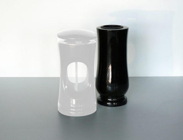 kamenná váza černá