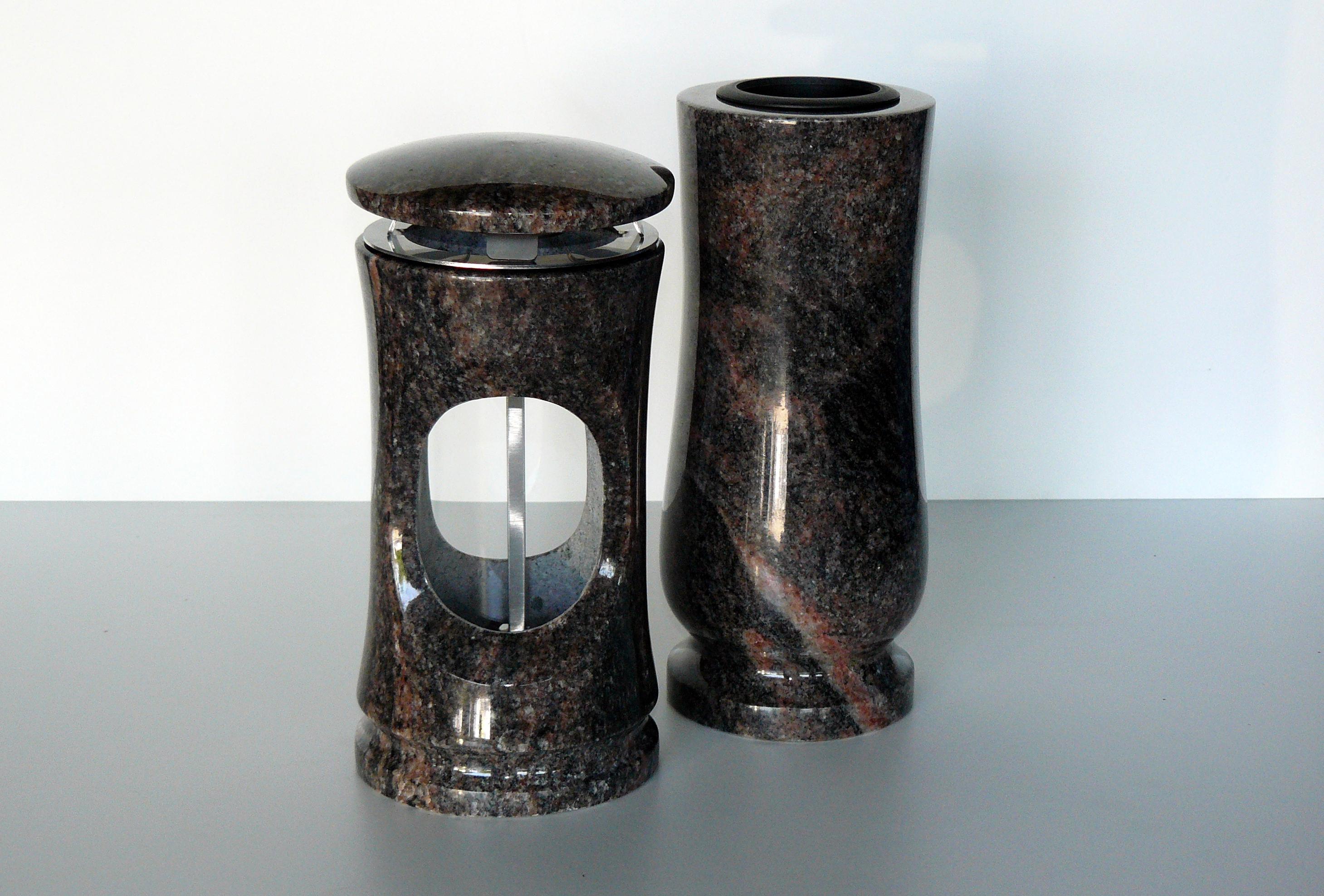 váza lampa kámen